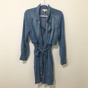 Cloth & Stone Chambray Trench Coat (0098)